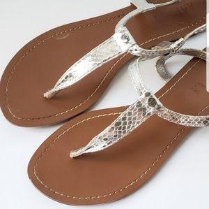 Ralph Lauren Snakeskin Embossed Sandal